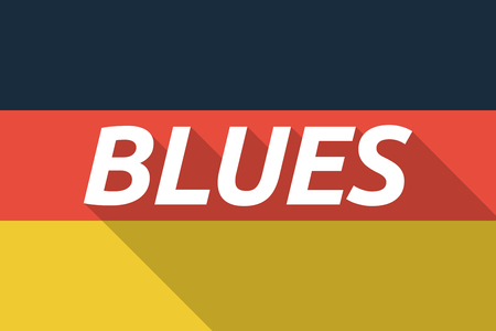 blues: Illustration of a Long shadow Germany flag with    the text BLUES