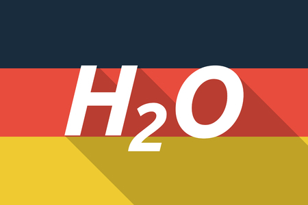 h2o: Illustration of a Long shadow Germany flag with    the text H2O