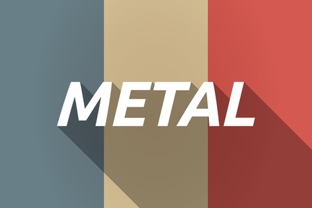 heavy metal: Illustration of a Long shadow France flag with    the text METAL Illustration