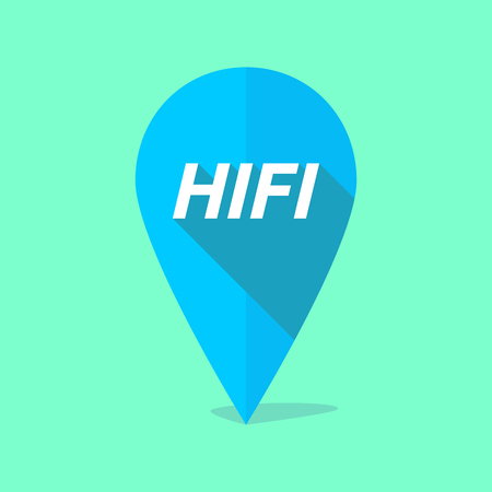 hifi: Illustration of a long shadow map mark with    the text HIFI