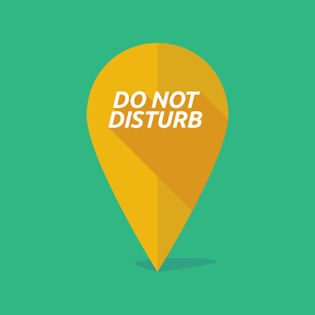 do: Illustration of a long shadow map mark with    the text DO NOT DISTURB