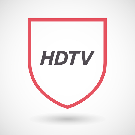 hdtv: Illustration of an isolated line art shield with    the text HDTV