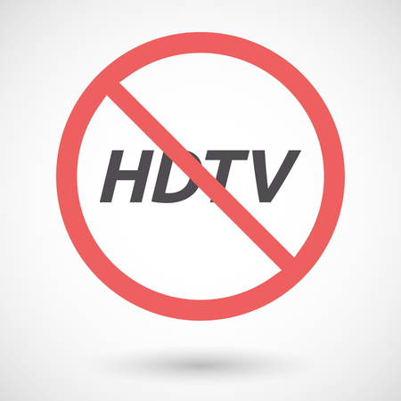 hdtv: Illustration of an isolated forbidden signal with    the text HDTV
