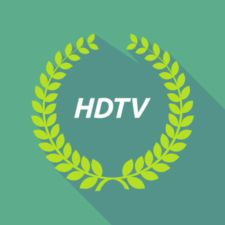 hdtv: Illustration of a long shadow laurel wreath with    the text HDTV