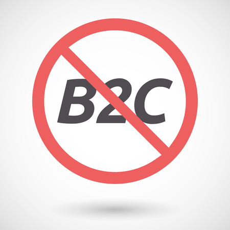 b2c: Illustration of an isolated forbidden signal with    the text B2C Illustration