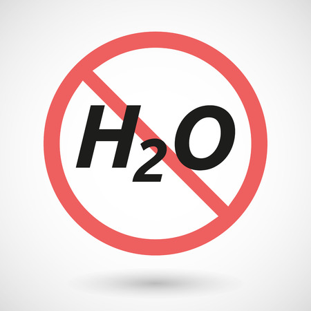 caution chemistry: Illustration of an isolated forbidden signal with    the text H2O Illustration