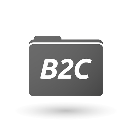 b2c: Illustration of an isolated folder icon with    the text B2C