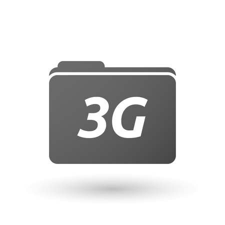 3g: Illustration of an isolated folder icon with    the text 3G Illustration