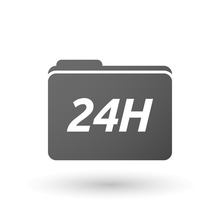 24h: Illustration of an isolated folder icon with    the text 24H