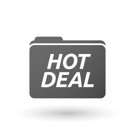 hot deal: Illustration of an isolated folder icon with    the text HOT DEAL