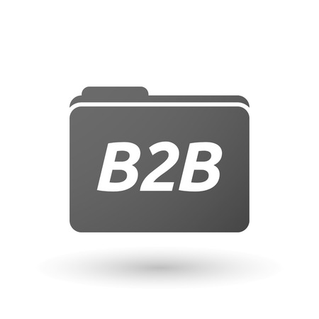 b2b: Illustration of an isolated folder icon with    the text B2B