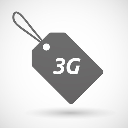 3g: Illustration of an isolated product label icon with    the text 3G