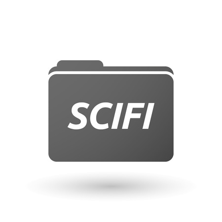 speculative: Illustration of an isolated folder icon with    the text SCIFI