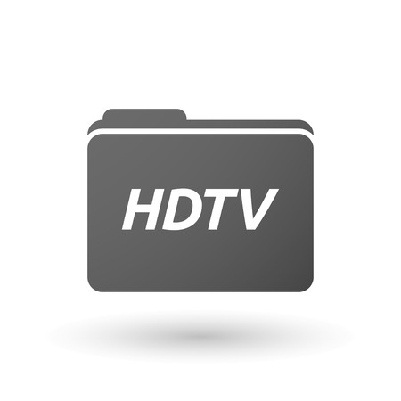 hdtv: Illustration of an isolated folder icon with    the text HDTV Illustration