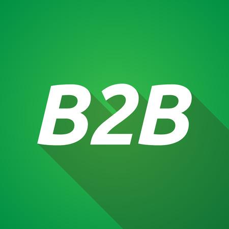 b2b: Illustration of a long shadow vector illustration of    the text B2B Illustration