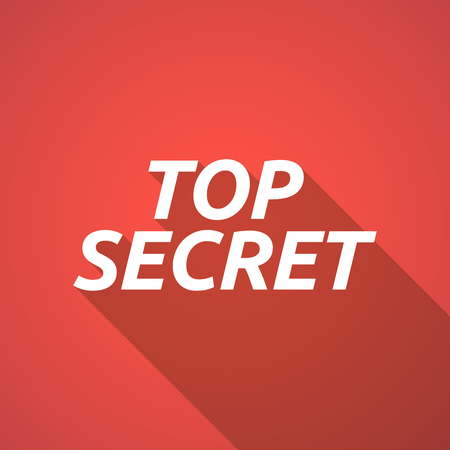 secrecy: Illustration of a long shadow vector illustration of    the text TOP SECRET