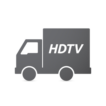 hdtv: Illustration of an isolated truck icon with    the text HDTV
