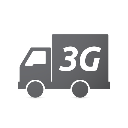 3g: Illustration of an isolated truck icon with    the text 3G