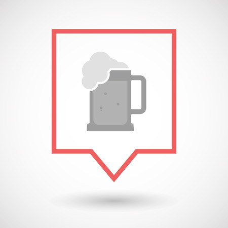 jarra de cerveza: Illustration of an isolated line art tooltip icon with  a beer jar icon