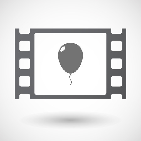 35mm: Illustration of an isolated 35mm film frame with a balloon Illustration