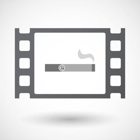 vaporizer: Illustration of an isolated 35mm film frame with an electronic cigarette Illustration