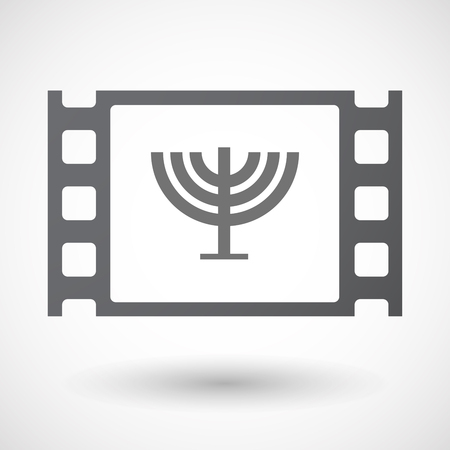 chandelier isolated: Illustration of an isolated 35mm film frame with a chandelier