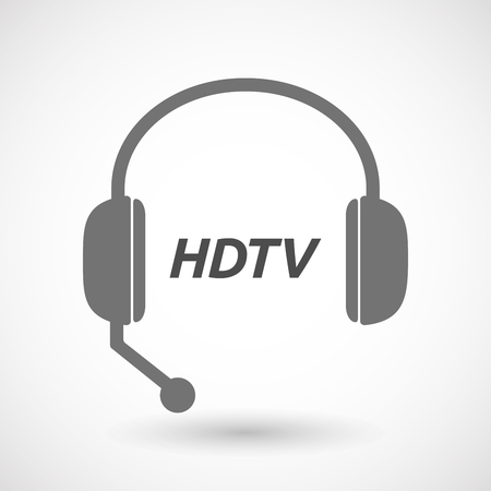 hdtv: Illustration of an isolated  headset icon with    the text HDTV