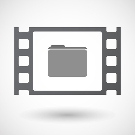 35mm: Illustration of an isolated 35mm film frame with a folder