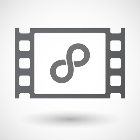35mm: Illustration of an isolated 35mm film frame with an infinite sign