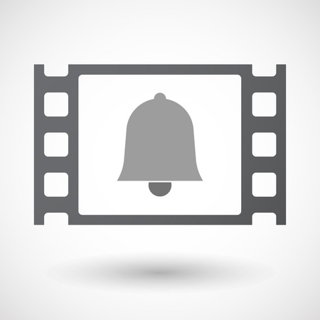 35mm: Illustration of an isolated 35mm film frame with a bell Illustration