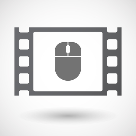 35mm: Illustration of an isolated 35mm film frame with a wireless mouse