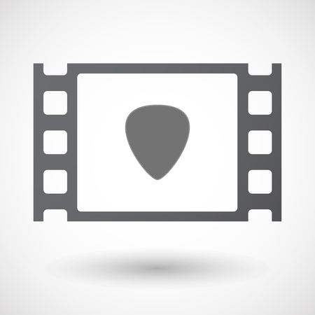 35mm: Illustration of an isolated 35mm film frame with a plectrum