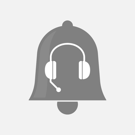hands free phone: Illustration of an isolated bell icon with  a hands free phone device Illustration