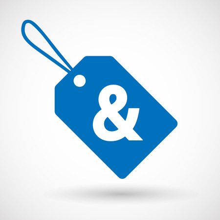 ampersand: Illustration of an isolated label with an ampersand