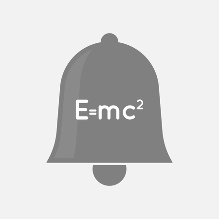 music theory: Illustration of an isolated bell icon with the Theory of Relativity formula