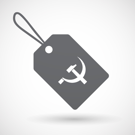 socialism: Illustration of an isolated label with  the communist symbol