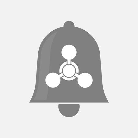 chemical weapon sign: Illustration of an isolated bell icon with a chemical weapon sign Illustration