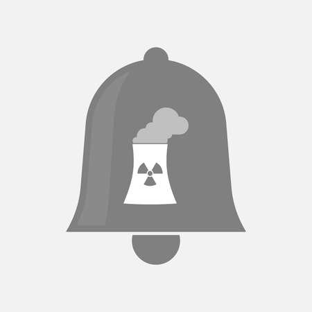 nuclear power station: Illustration of an isolated bell icon with a nuclear power station