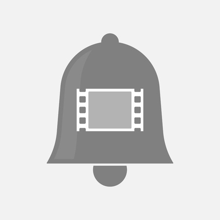 documentary: Illustration of an isolated bell icon with a film photogram