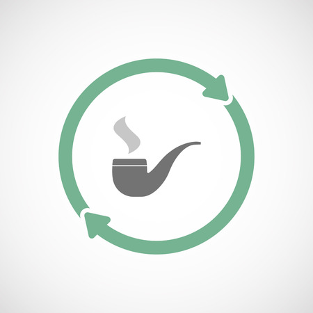 arrow poison: Illustration of an isolated  reuse icon with a smoking pipe Illustration