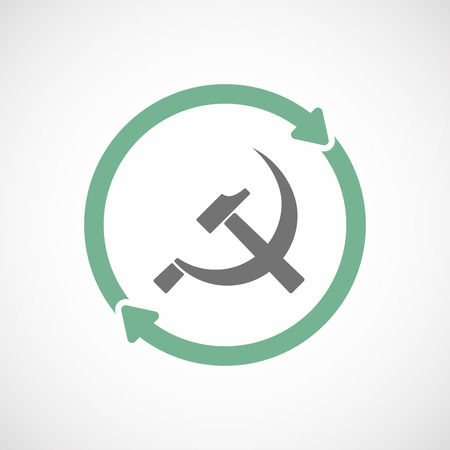 communist: Illustration of an isolated  reuse icon with  the communist symbol