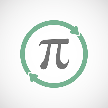 constant: Illustration of an isolated  reuse icon with the number pi symbol Illustration