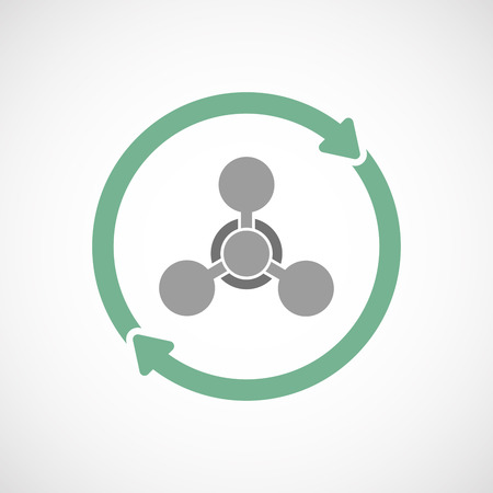 chemical weapon sign: Illustration of an isolated  reuse icon with a chemical weapon sign