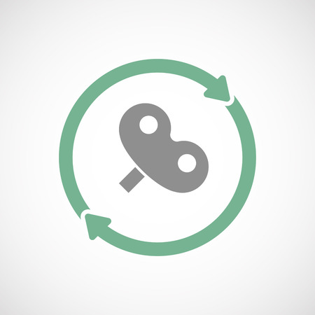 crank: Illustration of an isolated  reuse icon with a toy crank