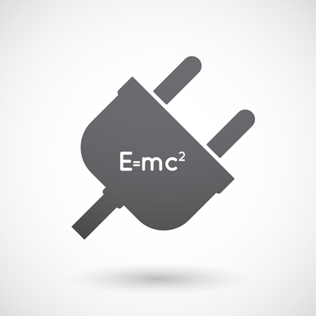 theory: Illustration of an isolated male plug with the Theory of Relativity formula Illustration