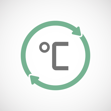 celsius: Illustration of an isolated  reuse icon with  a celsius degree sign Illustration