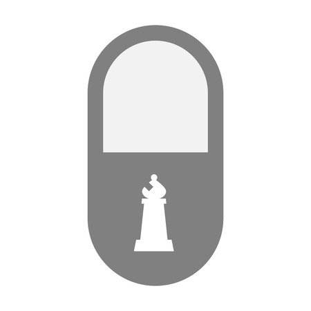 painkiller: Illustration of an isolated  pill icon with a bishop    chess figure Illustration