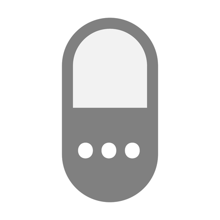 painkiller: Illustration of an isolated  pill icon with  an ellipsis orthographic sign