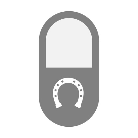 bridle: Illustration of an isolated  pill icon with  a horseshoe sign Illustration