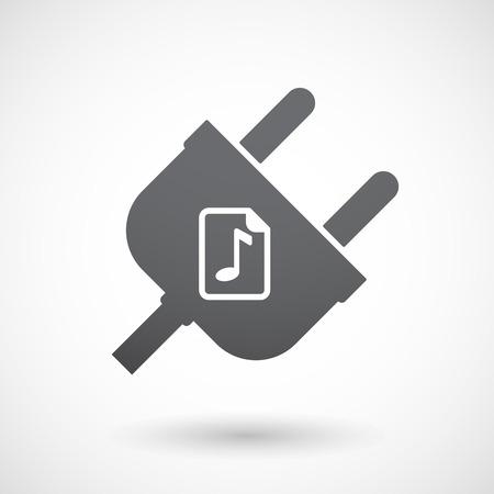 partition musique: Illustration d'un isol� m�le bouchon ic�ne avec une ic�ne de partition